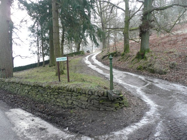 Icy track to Castle Peroch