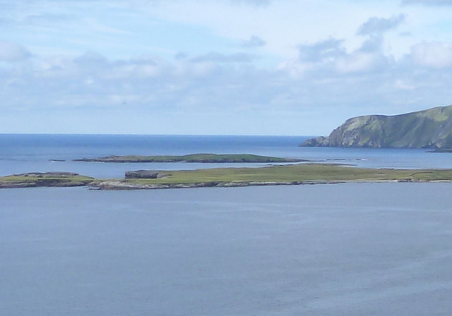 View across Scat Ness to Lady's Holm
