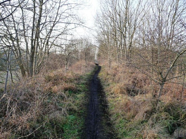 View along a former mineral railway line
