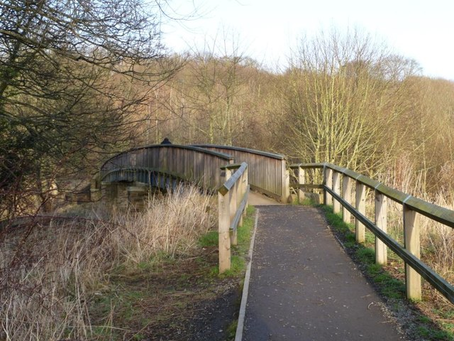Footbridge across Old Durham Beck