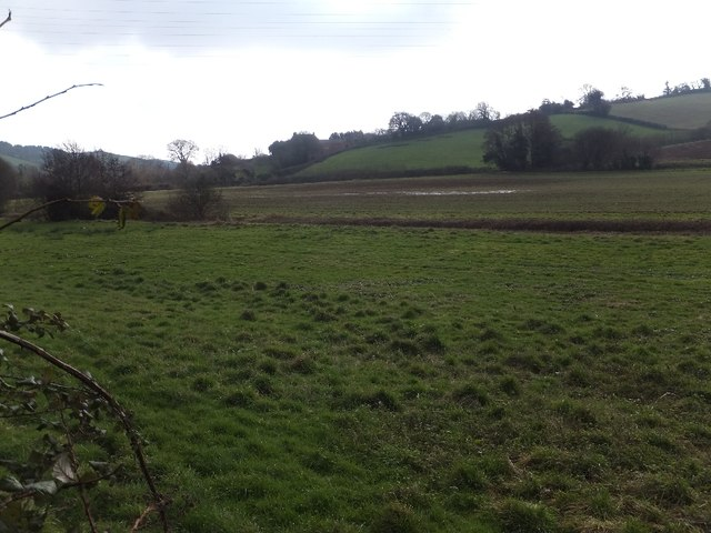 The valley and flood plain of the Dawlish Water