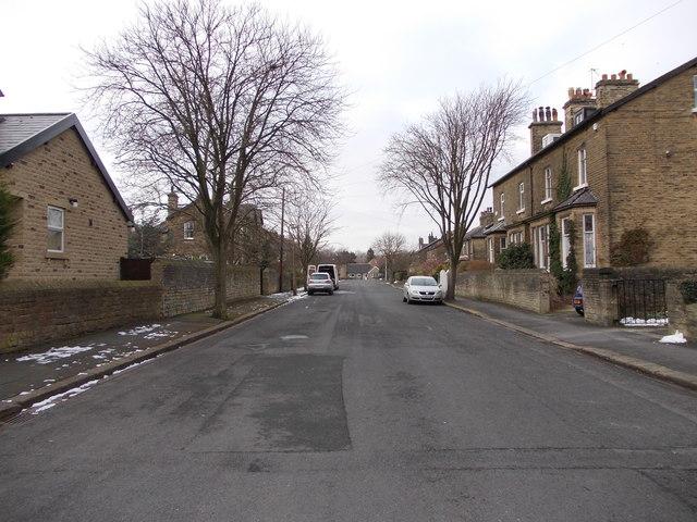 Moorhead Terrace - viewed from Ivy Road