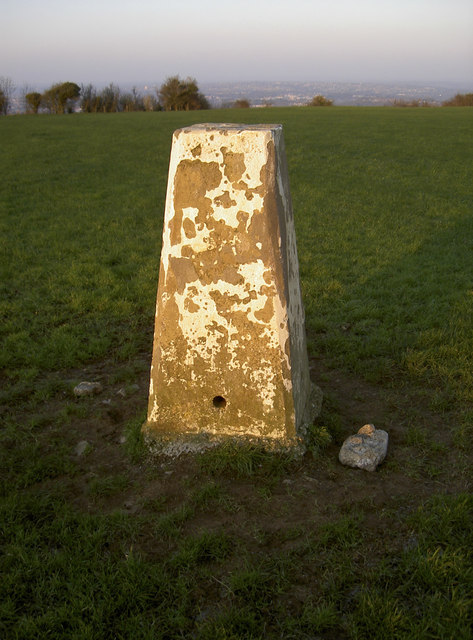 Trig point on The Tump