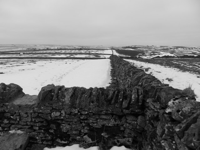 Dry stone walls, and drifted snow
