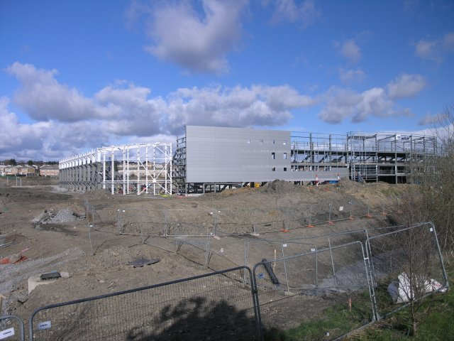 Parc-Y-Scarlets stadium, under construction