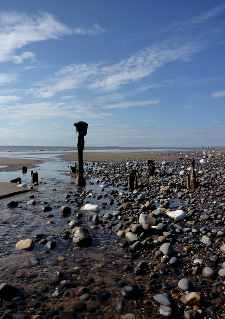 Old Sea Wall, Spurn Point.