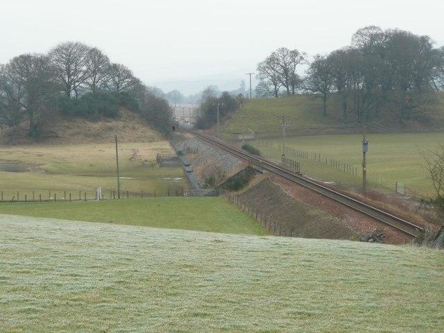 Railway cutting at Dalmarnock