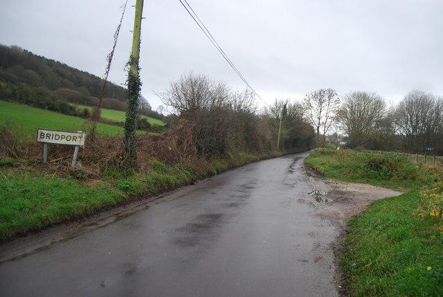 Entering Bridport, Pymore Rd