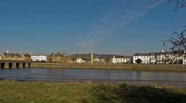 The Square and The Strand by the River Taw