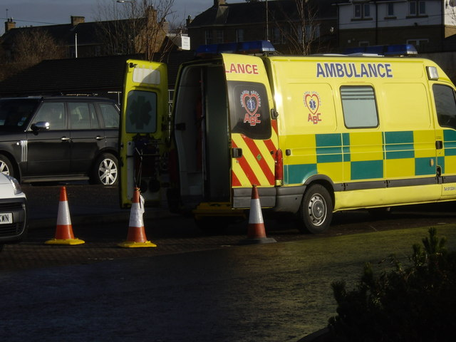 An ambulance in attendance at Meggetland Sports Centre