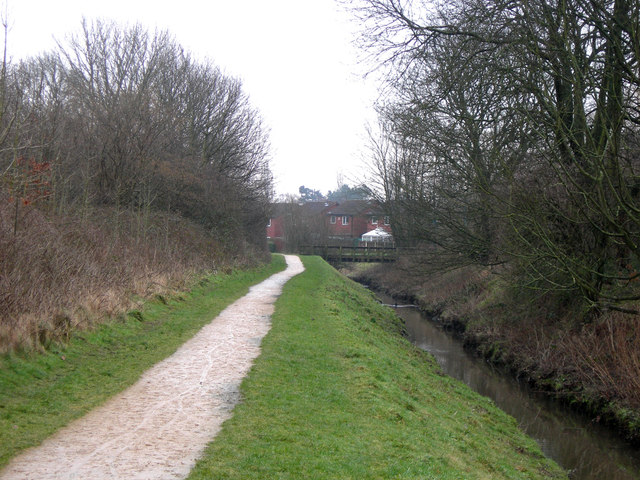 Footpath alongside a Brook