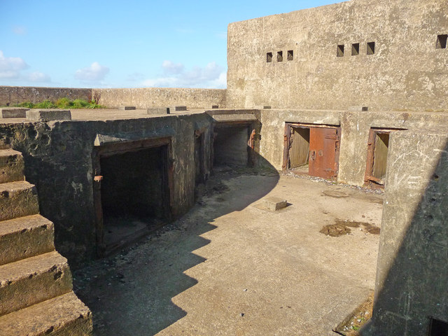 Brean Down - Brean Down Fort Gun Emplacement