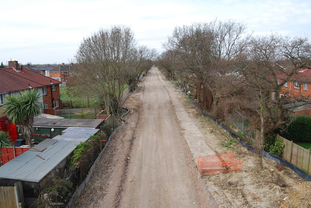 Fareham to Gosport BRT - View from Gregson Avenue Bridge (17)