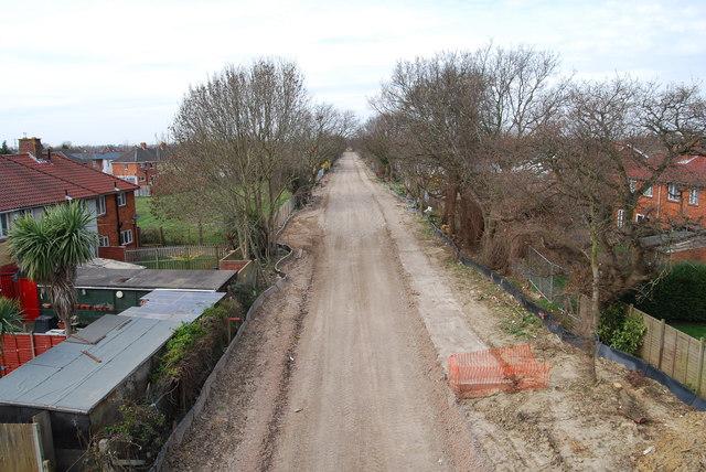Fareham to Gosport BRT - View from Gregson Avenue Bridge (17)