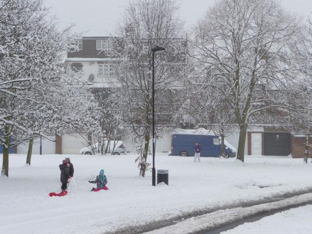 Fun in the Snow, London N14