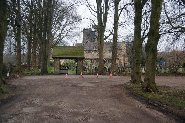 The driveway to St Leonard the Less, Samlesbury