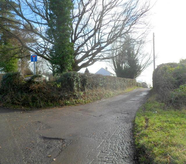 Lane to Sluvad End Farm