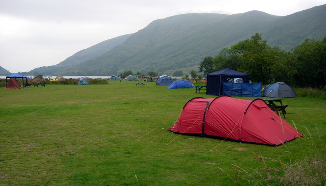 Campsite on the shores of Llyn Cwellyn