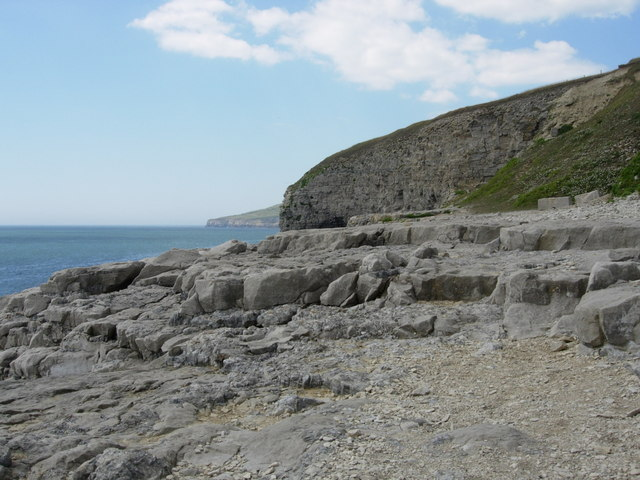 Cliffs at Dancing Ledge near Durlston, Dorset