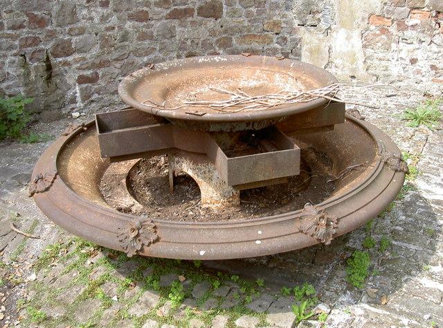 Rusting away in the courtyard