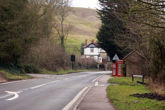 The B4632 at Cleeve Hill