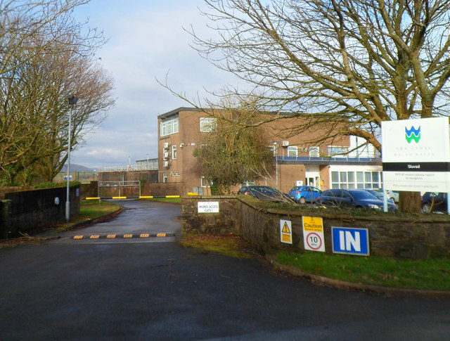 Works access gate 1, Welsh Water, Sluvad
