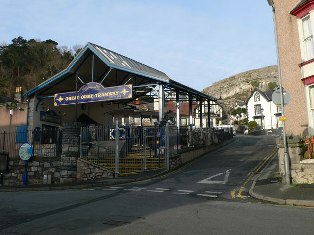 The town station for the Great Orme Tramway