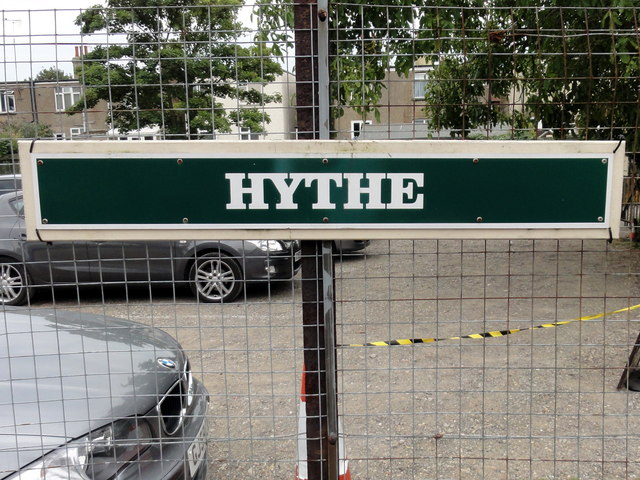 RH&DR Hythe railway station sign