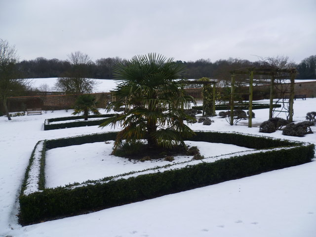 In the walled garden at Heathfield