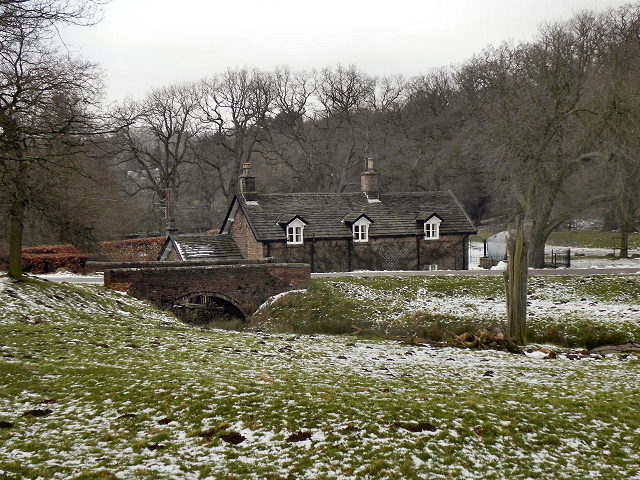 Bridge and Cottage, Bollinhurst Brook