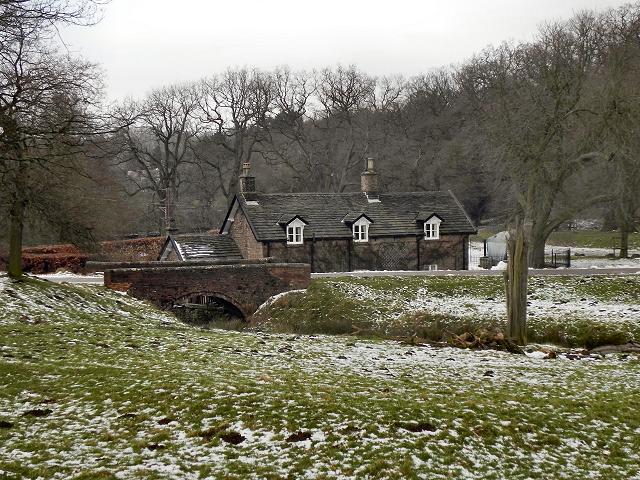 Bridge and Cottage, Bollinhurst Brook