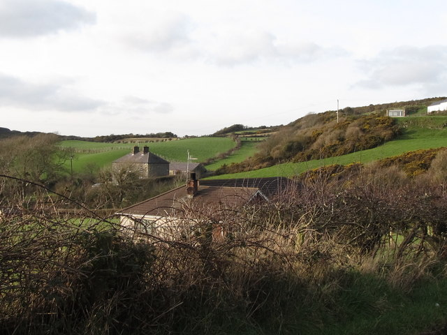 Former galena mining area around Glebe House, Rathmullan