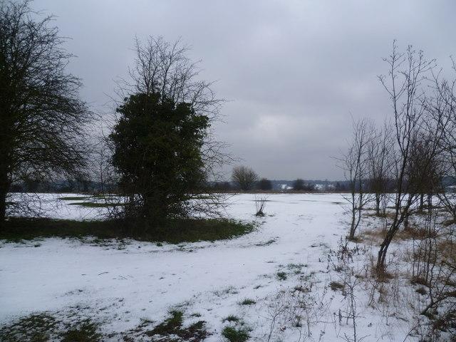 Addington Court Golf Course in the snow