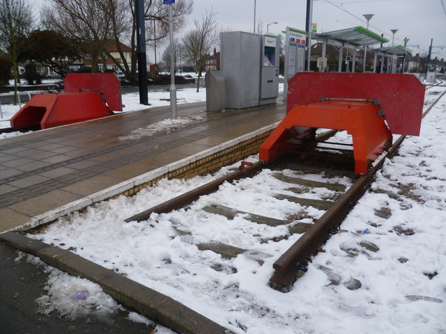 Tramlink terminus at New Addington