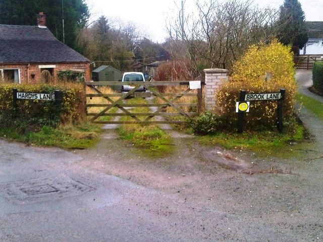 Hardys Lane, Brook Lane, Coxbank