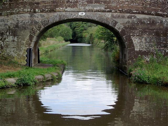 Oscote Barn Bridge near Church Eaton, Staffordshire