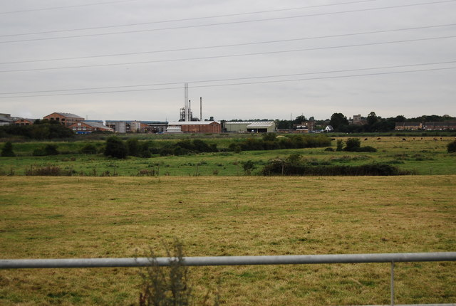 View towards Snodland Paper Mill
