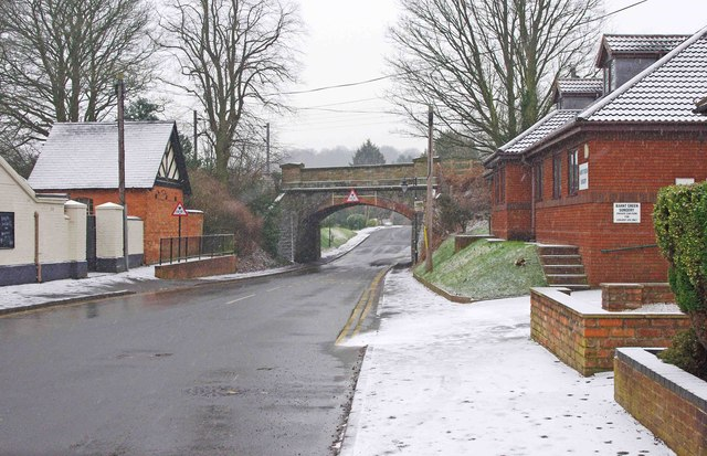 Hewell Road looking south to railway bridge, Barnt Green