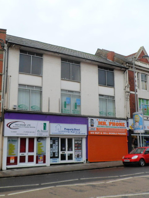 Three businesses south of St Paul's, Commercial Street, Newport