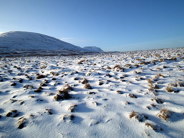 Park Fell, Ingleborough and driven snow