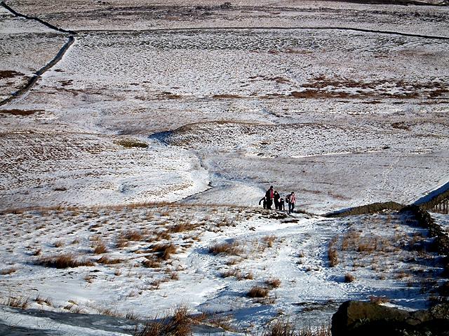 Walkers ascending Park Fell