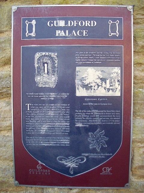 Guildford Castle Plaque
