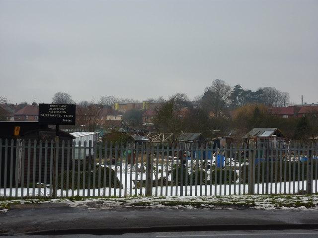Allotments, Sinfin Lane, Derby