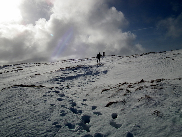 Nearing the summit of Park Fell