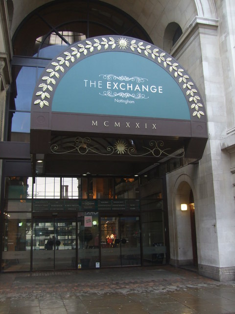 Entrance to The Exchange Nottingham