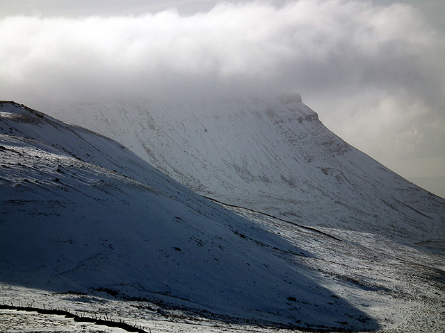 The north west face of Ingleborough viewed from Park Fell