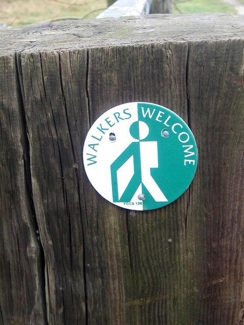 Walkers Welcome sign