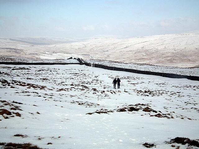 Walkers descending from Park Fell