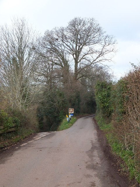 Slip road to Linhay and Weston Farm