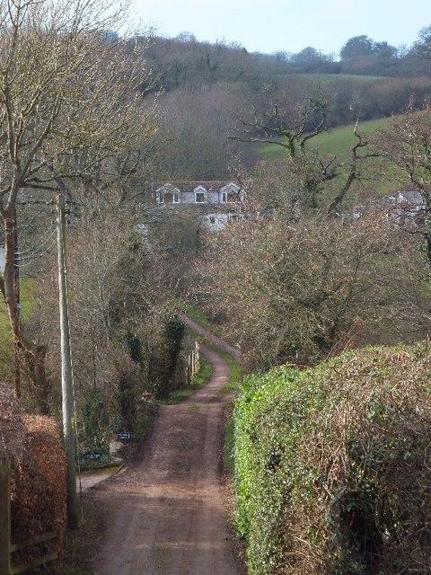 Track to Little Weston farm